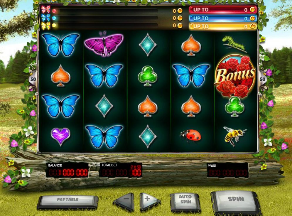 3 Butterflies slot game