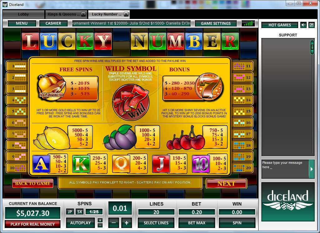 Lucky Number Online Slot Game :: Svenska Casinos