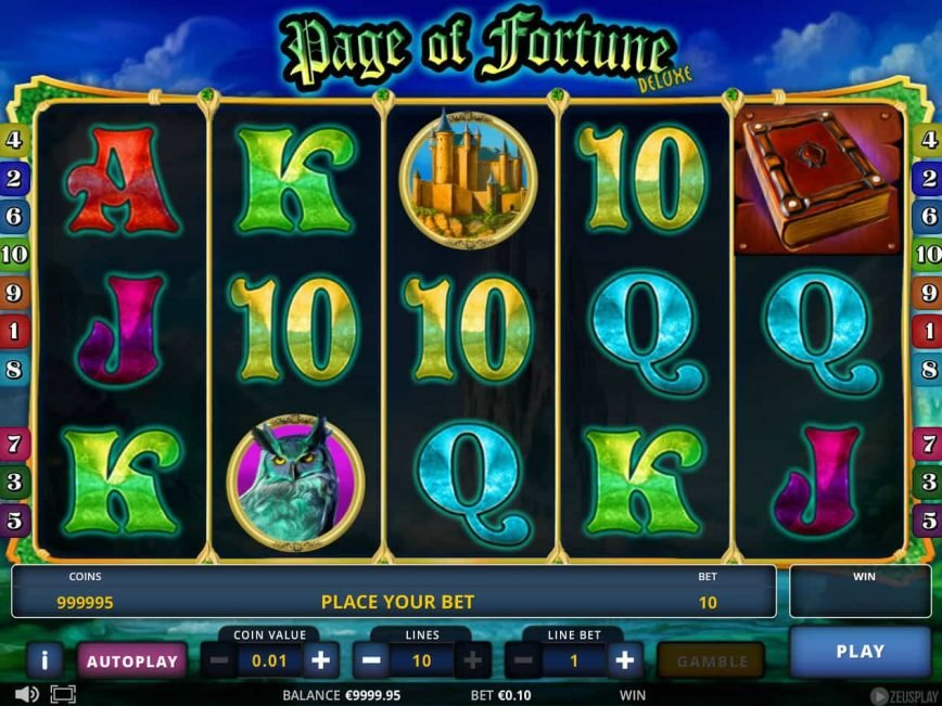 Page of Fortune Deluxe slot game