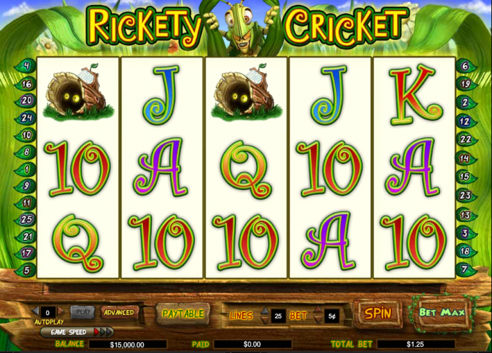 Rickety Cricket slot game
