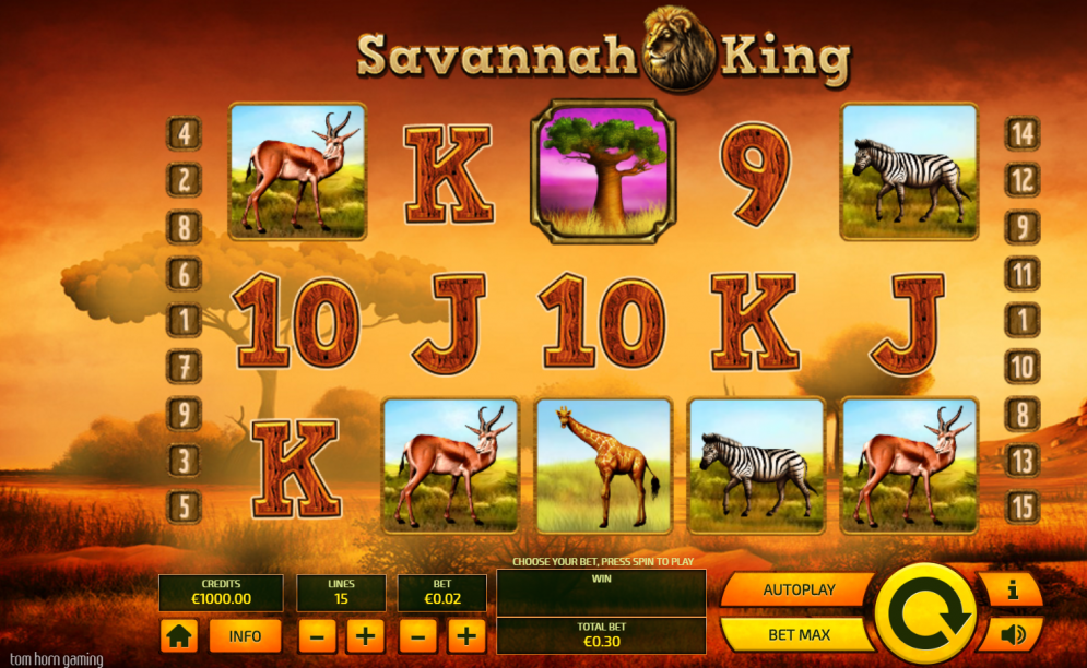 Savannah King slot game