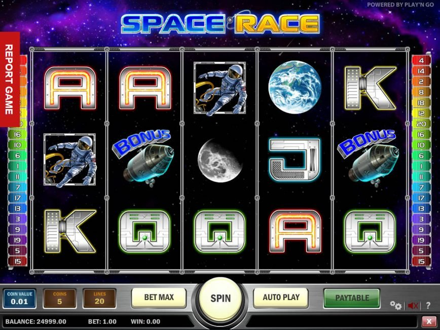 Space Race slot game