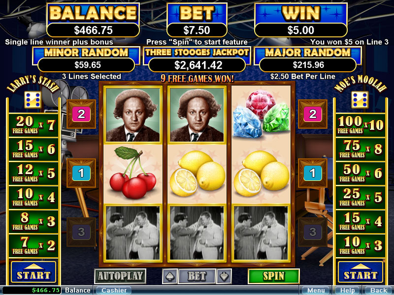 The Three Stooges 2 slot game