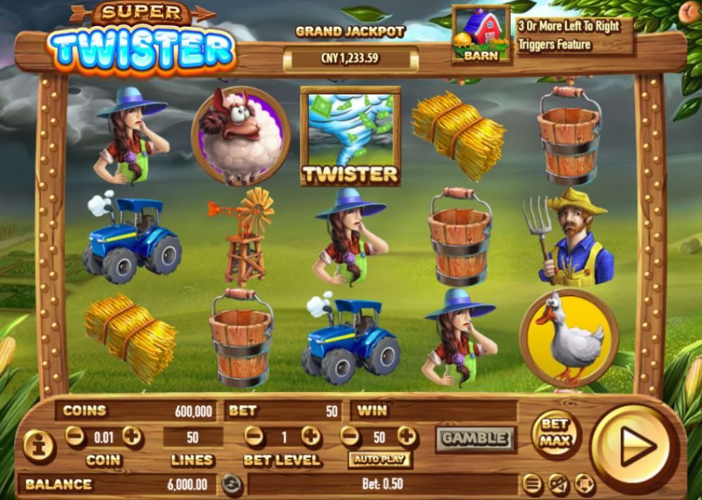 Twister slot game