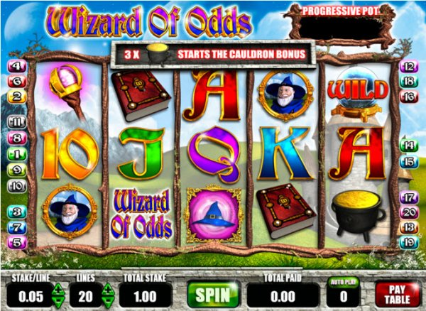Wizard of Odds slot game