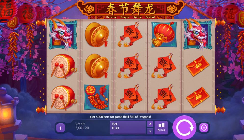 Dancing Dragon Spring Festival slot game