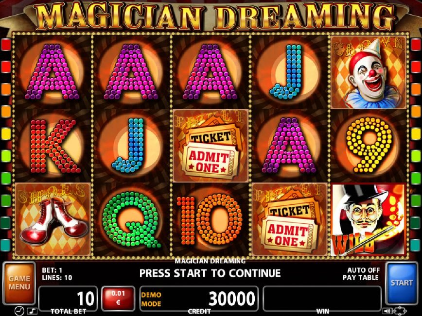 Magician Deaming slot game